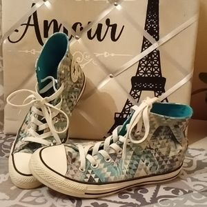 Converse Chuck Taylor Aztec/Tree Print Sneakers